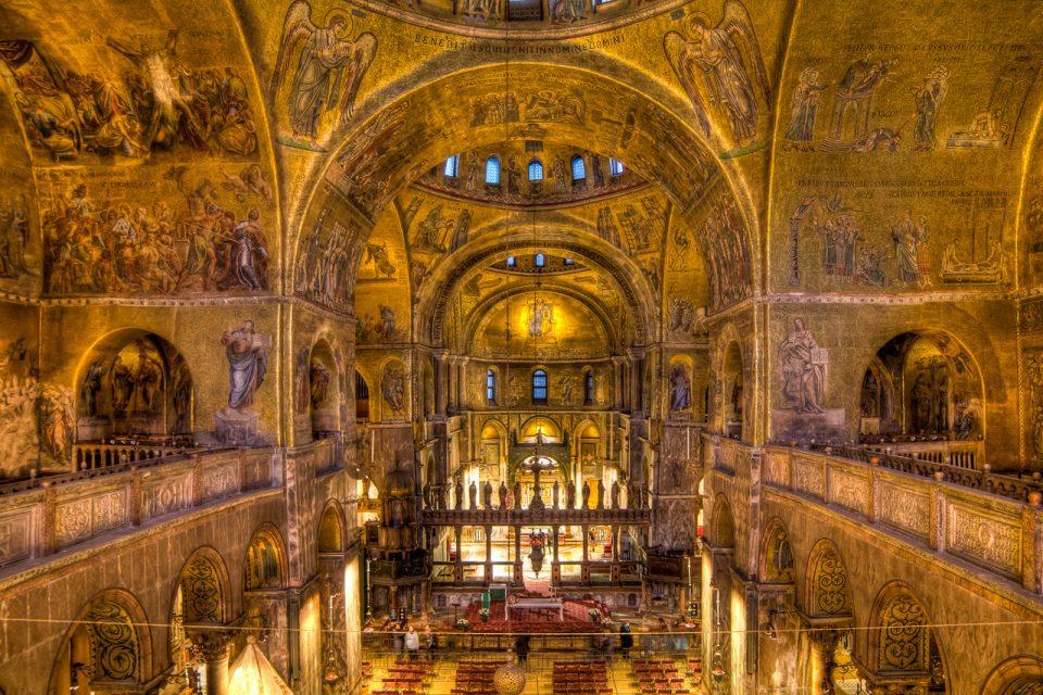 Inside Saint Marks Basilica