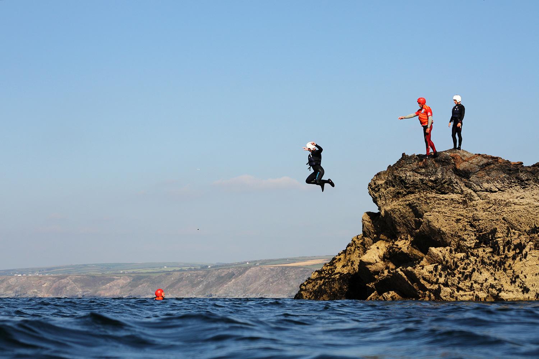 Coasteering,best adventurous activities in the UK