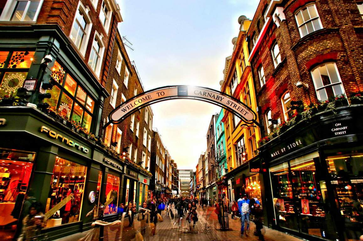 carnaby, places to shop in the UK
