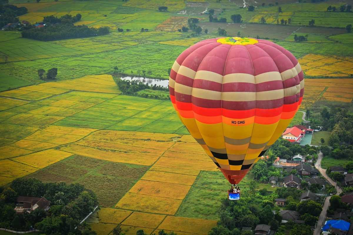Hot Air Balloon,things to do in Thailand