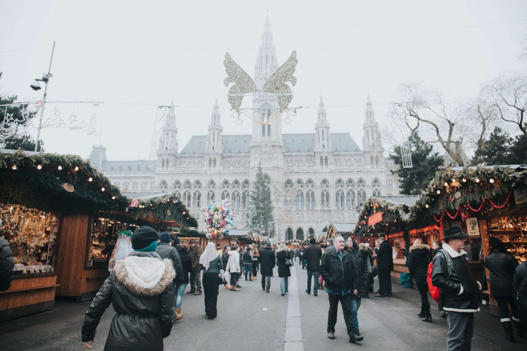 Vienna Christmas Market in Europe