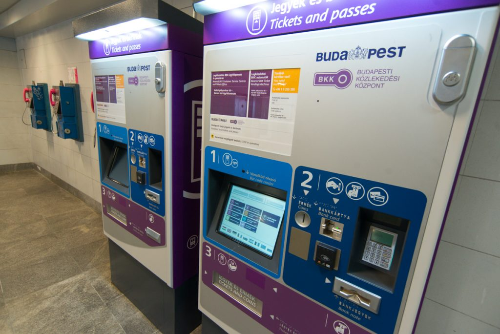 ticket vending machines budapest