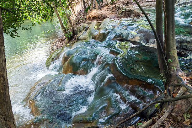 Hot water spring in Khlong Thom Thailand on Honeymoon