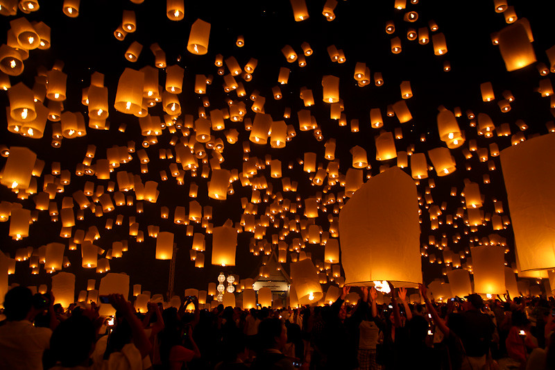 Yi Peng Festival Lantern View
