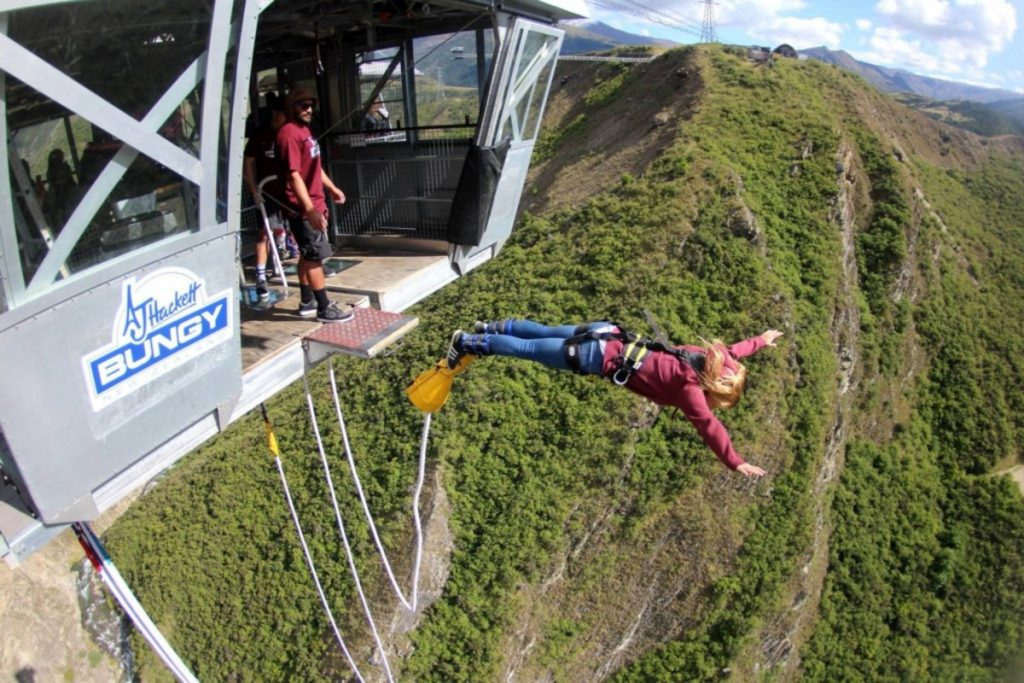 nevis bngee jump is the highest bungee jump in Queenstown, New Zealand